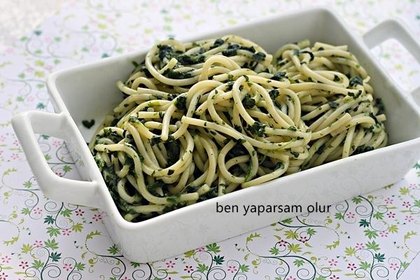 Kremali Ispanakli Spaghetti