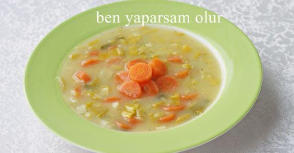 Havuclu Kremali Pirasa Corbasi / Möhren Porree Suppe