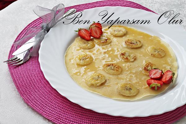 Balli Muzlu Krep - Bananen Honig Crepes