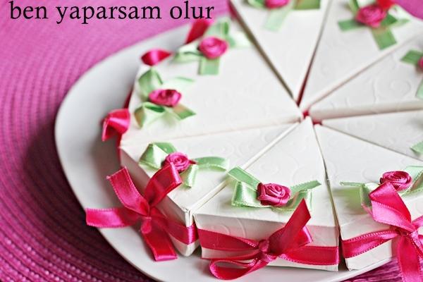 Papier Satin Rosen Torte - Saten Güllü Kagit Pasta